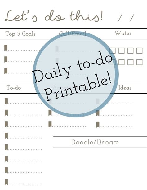 doodle to do list daily to do printable blissfully domestic