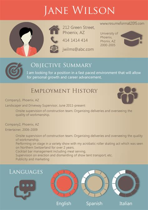 most successful resume format 2015 resume format 2015 sles resume format 2017