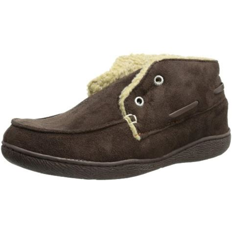 dockers mens slippers dockers 7606 mens laceless lined slip on bootie slippers