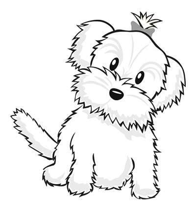 coloring pages of maltese puppies cute dog coloring pages to print color bros