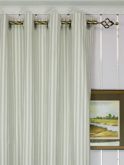 narrow curtain panels modern narrow striped blackout cotton blend custom made