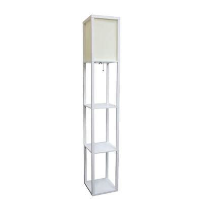 simple designs 63 3 in etagere white floor l organizer
