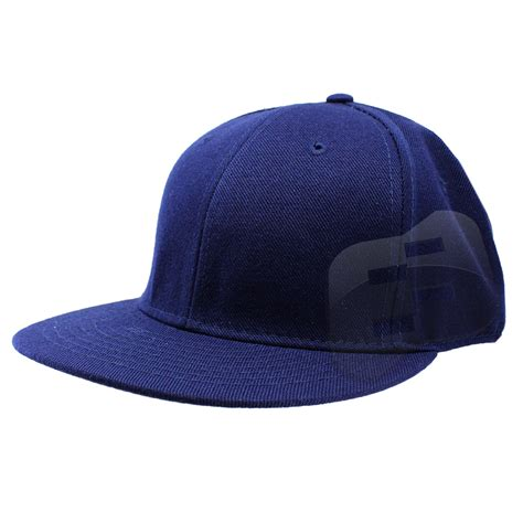 fitted baseball cap flat bill plain solid canvas mens