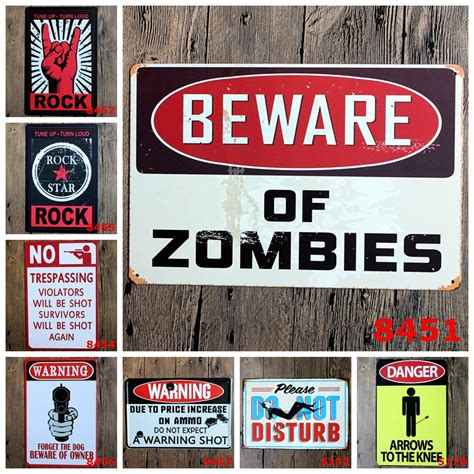 metal signs home decor danger warning metal tin signs no smoking signage home