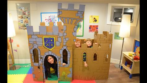 build  cardboard castle fort youtube