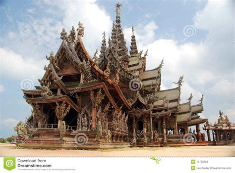 pattaya thailand sanctuary  truth temple royalty  stock image image