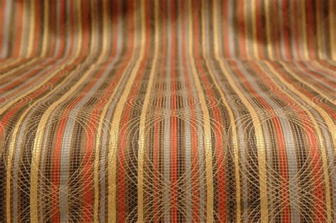 multi coloured upholstery fabric multi colored stripe upholstery fabric 8 yds ebay