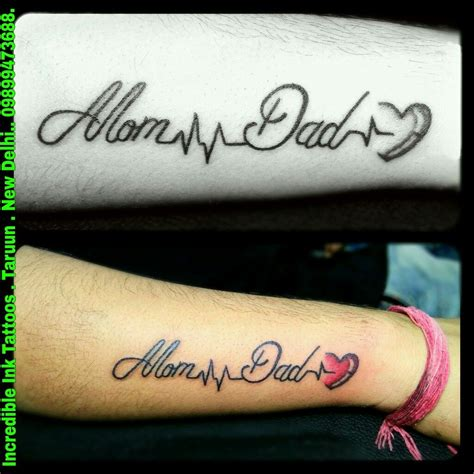 tattoo designs for mom and dad momdad heartbeat heartbeat tattoos