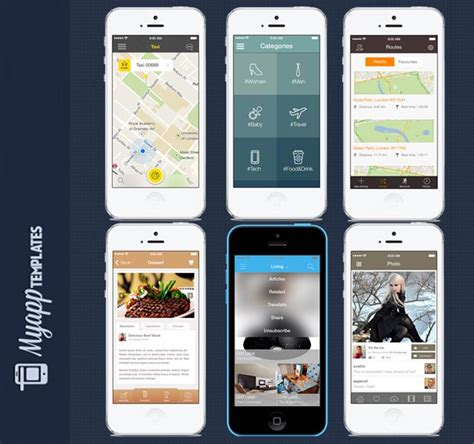 mighty deals 6 professional ios7 app design templates