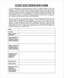 exit form template exit form 9 free pdf word documents