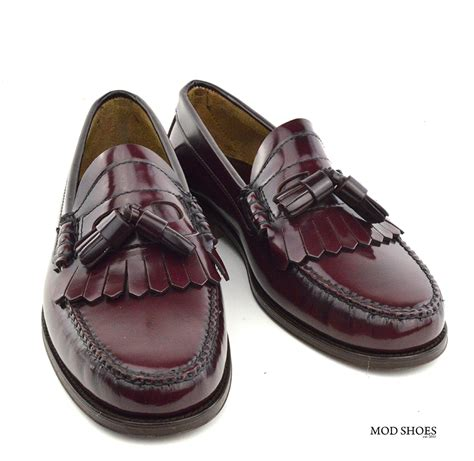the loafer oxblood tassel loafer the duke by modshoes mod shoes