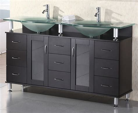 bathroom vanities with glass tops with original