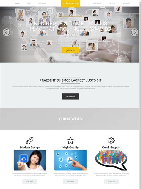 Social Networking Website Template Social Networking Website Templates Dreamtemplate Social Media Site Template