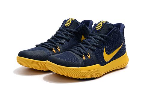 Sepatu Basket Kyrie 3 Cavs Blue Navy Blue Yellow kyrie irving shoes 3 2017 cavs cleveland cavaliers