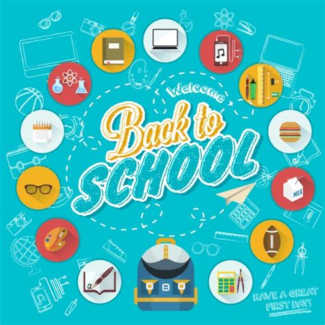 back to school background back to school background vector free