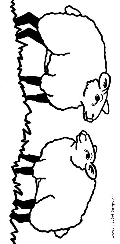 sheep family coloring page two sheep color page
