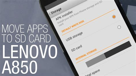 how to make apps go to sd card lenovo a850 how to move apps to sd card and free space