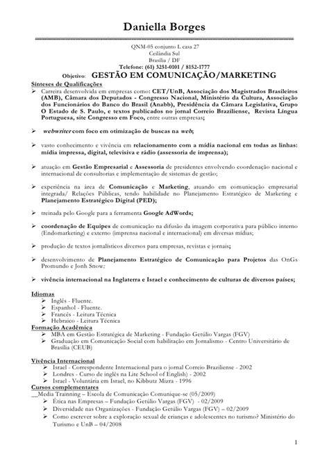 Modelo Curriculo Internacional Borges Cv