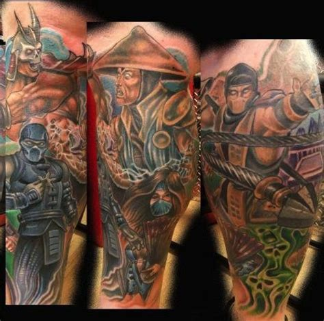 mortal kombat tattoos pinterest