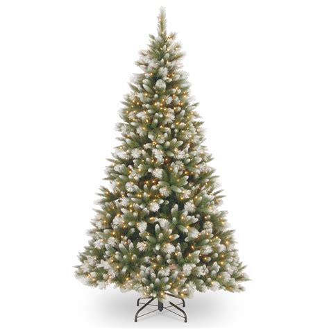 feel real alaskan spruce tree national tree company 7 1 2 feel real r frosted alaskan pine tree