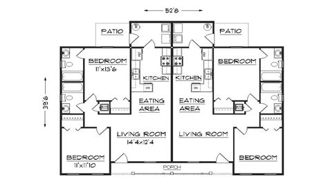 Duplex Floor Plans With Garage by Duplex Floor Plans Duplex House Plans With Garage Plan