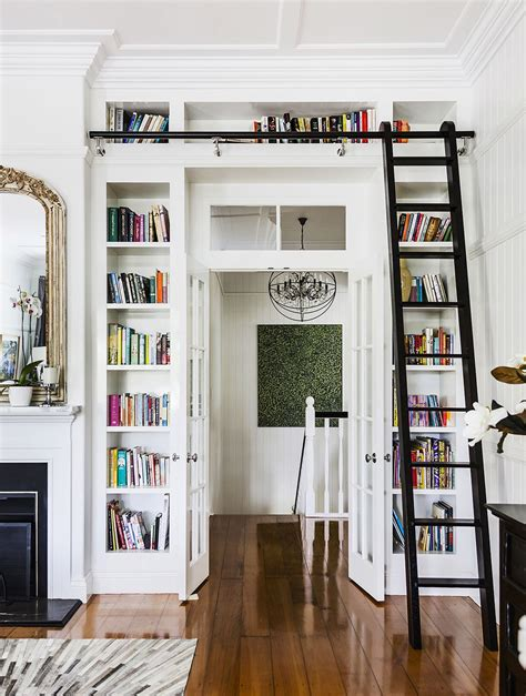 bookcase ladder and rail bookshelf astonishing bookcase with ladder and rail