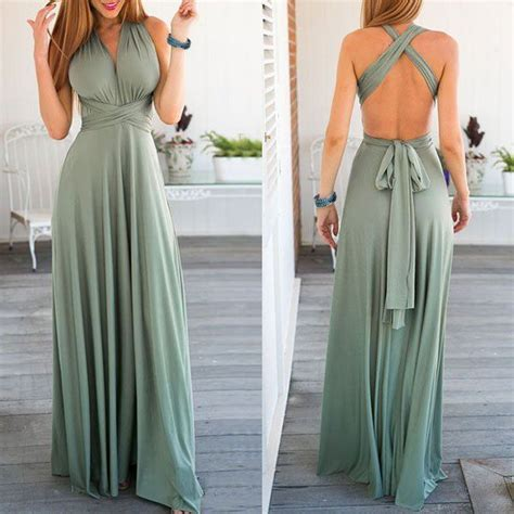 Maxi Dress Set Green set of 2 green infinity maxi dress multiway wrap dress