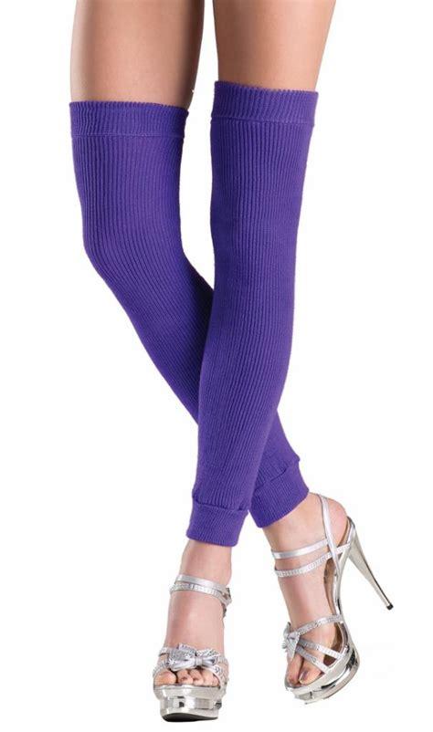 thigh high knit leg warmers acrylic knit thigh high leg warmers retro costume 80s neon
