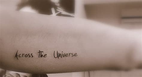 across the universe tattoo across the universe ink universe