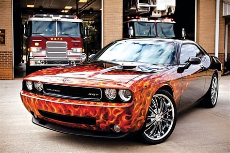 badass challenger badass dodge challenger flames just airbrush