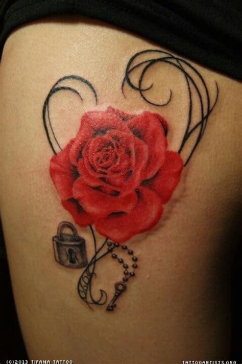 rose lock and key tattoos lock n key tattoos