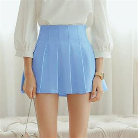 half pleated high waist mini skirt uniqistic