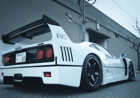 japanese ricer car watch a one off ferrari f40 with japanese ricer influences