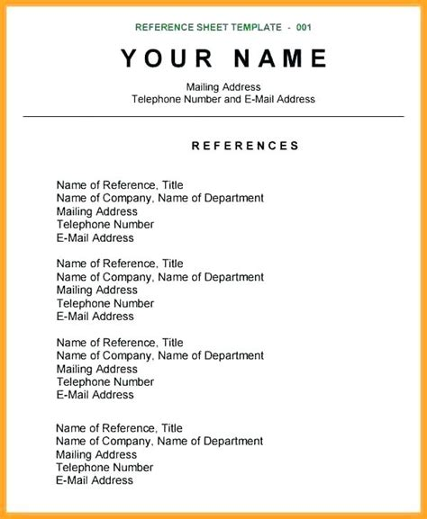 References Page Resume by Reference Page Exle Laperlita Cozumel