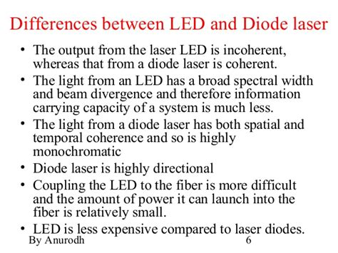 difference between diode and led led pin diode