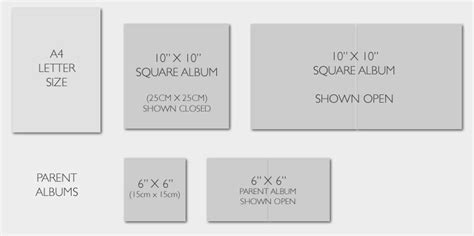 Wedding Album Page Size by Wedding Album Sizes For Our Collections The Wedding
