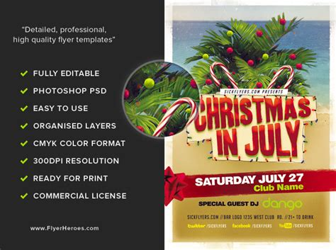 In July Flyer Template Christmas In July Flyer Template V2 Flyerheroes