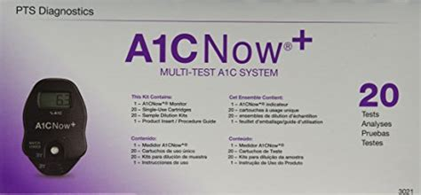 amazoncom hba1c test kit a1cnow hba1c blood monitor 20 tests box buy online in