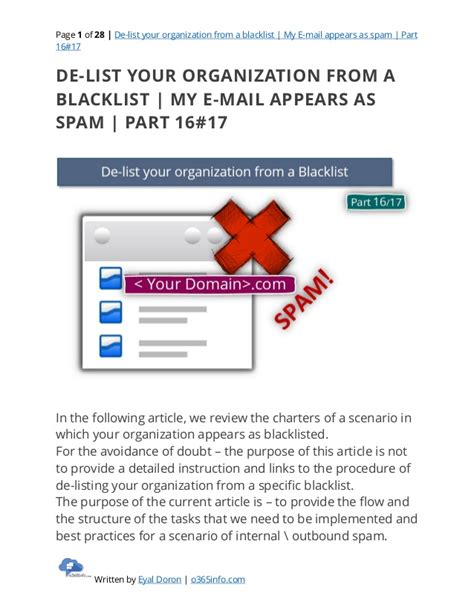 Office 365 Mail Blacklist De List Your Organization From A Blacklist My E Mail