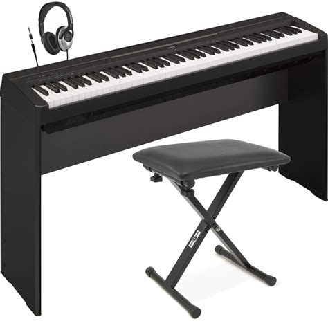 stand bench disc yamaha p35 digital piano black with stand bench and