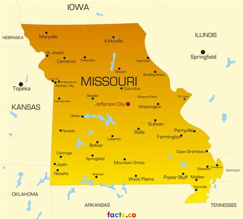 missouri map and cities missouri map blank political missouri map with cities
