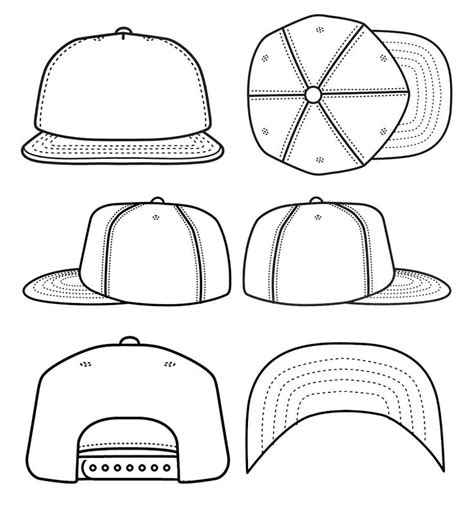 Best Photos Of Blank Snapback Stencil Snapback Hat Template Cad Sketches Hat Template