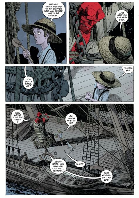hellboy into the silent aboard a ghost ship in hellboy into the silent sea preview