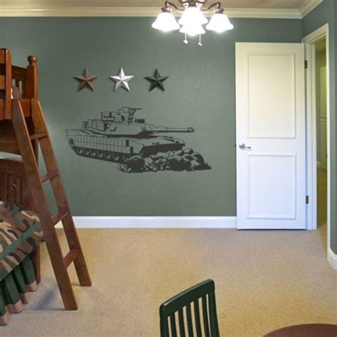 military bedroom decor sudden shadows 21 5 in x 48 5 in tank sudden shadow wall