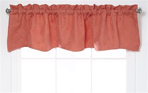 Coral Colored Valances Shell Trellis Scalloped Valance Coral Scalloped Valances