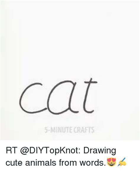 Drawing 5 Minute Crafts by Cat 5 Minute Crafts Rt Drawing Animals From Words