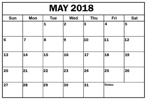 printable calendar 2018 landscape may 2018 calendar portrait landscape printable