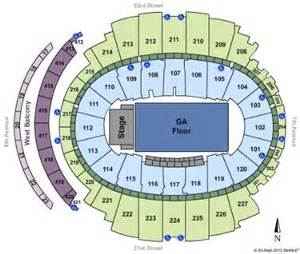 msg floor plan square garden tickets in new york seating charts
