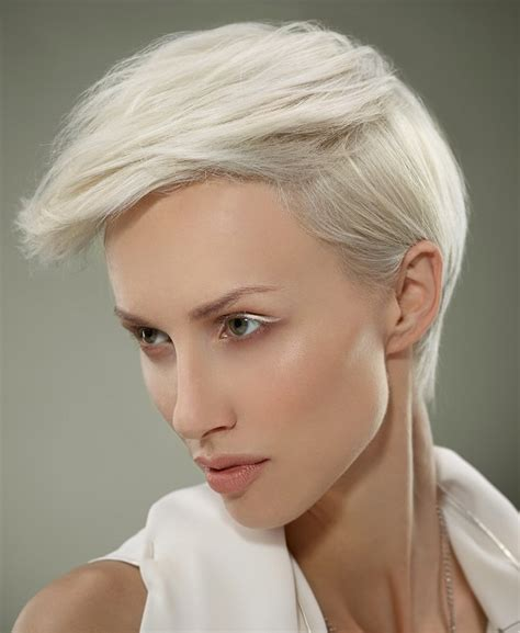 short white hair a short white hairstyle from the pure crystal collection