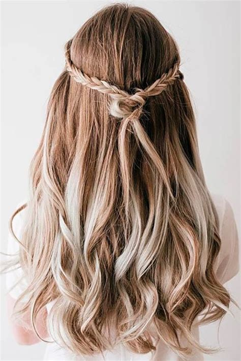 try 42 half up half down prom hairstyles prom long